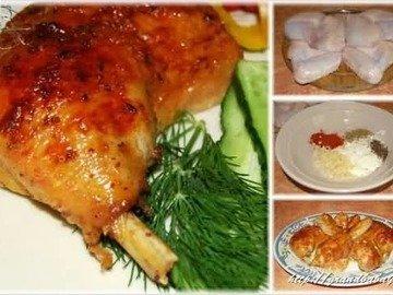 Курица, тандури масала, духовка