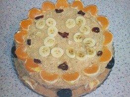 """Медовый торт с кремом из халвы """"Рафаэль"""""""