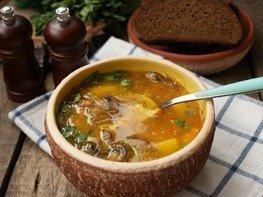 Горохово-грибной суп