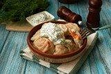Пельмени с лососем