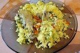 Кускус с курицей и овощами в мультиварке