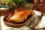 Куриные окорочка запечённые  в маринаде