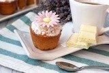 Кексы с белым шоколадом