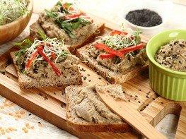 Чечевичная паста (намазка на бутерброды)