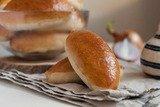 Пирожки с грибами, сыром и пшенной крупой