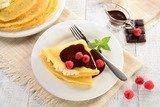 Блины с крем-сыром и шоколадом