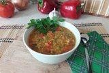 Пряный чечевичный суп с болгарским перцем