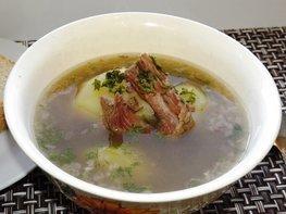 Суп-жаркое из картофеля и тушенки