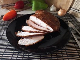 Куриная грудка в чесночно-томатном маринаде