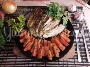 Запечённые куриные грудки с морковью - шаг 9