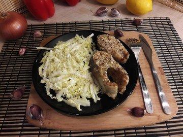 Запечённая форель в горчично-медовом маринаде