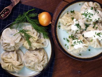 Хинкали, по мотивам грузинской кухни