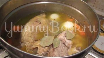 Домашний холодец со свининой и петухом - шаг 3