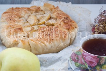 Пирог с заварным кремом и яблоками - шаг 14