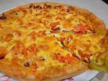 Заливная пицца в духовке